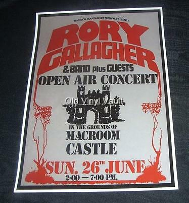 £4.95 • Buy Rory Gallagher Concert Poster Macroom Mountain Dew Festival Cork 1977 A3 Size