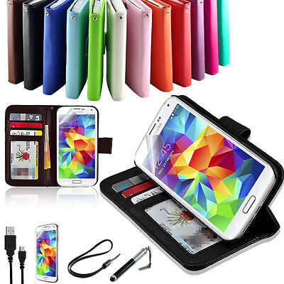 AU9.99 • Buy New TPU Wallet Leather Case Cover -Samsung Galaxy S4 S5 S6 S7 Edge Note 5 Note 7