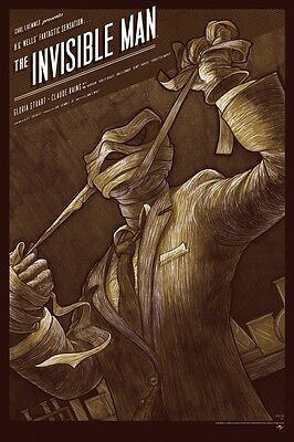 £109.18 • Buy Kevin Tong The Invisible Man Variant Limited Rare SDCC Mondo Movie Poster Print