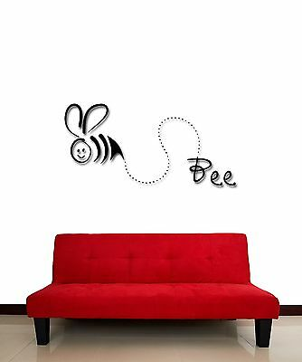 Wall Stickers Vinyl Decal Funny Bee Decor For Kids Children Nursery  (z1856) • 21.70£