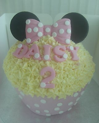 Silicone Mould Minnie Mouse Bow Birthday Wedding Giant Cupcake Icing Cake Topper • 11.99£
