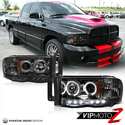 $128.55 • Buy 02-05 Dodge RAM 1500 New LH+RH Pair Smoke Projector LED Headlight Signal Lamps
