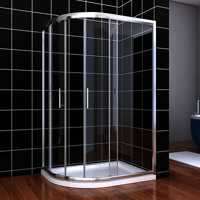 £239.99 • Buy 900x760mm Quadrant Shower Enclosure Cubicle Stone Tray Waste Pipe Left Hand