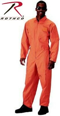 $48.99 • Buy Orange Military Style Flight Suit Air Force Style Flight Coveralls Rothco 7415