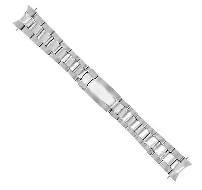 $ CDN53.56 • Buy Oyster Watch Band Bracelet For Rolex Daytona Flip Lock Shiny Center S/steel