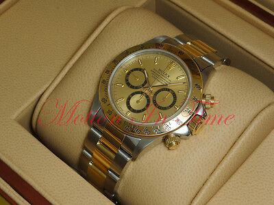 $19995 • Buy Rolex Daytona 40mm Chronograph Two-Tone Zenith Movement Champagne Dial 16523