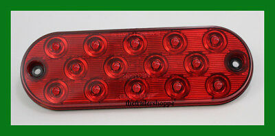 $16.50 • Buy Maxxima 6  Low Profile Oval 14 LED Stop, Tail, Turn Light M63350R