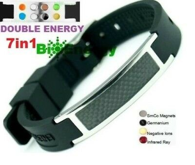 Anion Magnetic Energy  Power Bracelet Health 7in1 Bio GERMANIUM Armband BAND • 9.95£