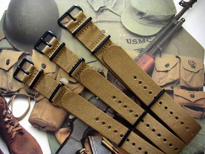 $11.25 • Buy NATO G10 Khaki Brown Nylon Military Army PVD Watch Band Strap IW SUISSE 18 20 22