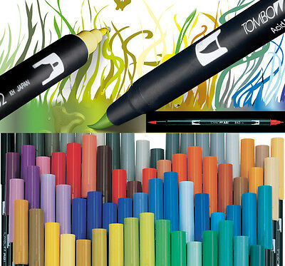 Tombow ABT Dual Brush Pen - Blacks, Greys And Blender • 2.95£
