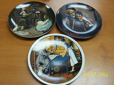 $ CDN32.28 • Buy Norman Rockwell Collector Plates Knowles - Set Of 3 Great Condition