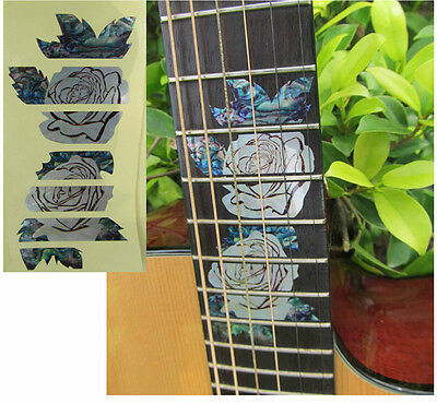 Guitar Inlay Stickers Rose Decals • 9.62£