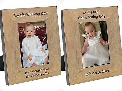 £18.50 • Buy PERSONALISED Picture PHOTO FRAME For CHRISTENING Gifts Present Boys Girls Baby