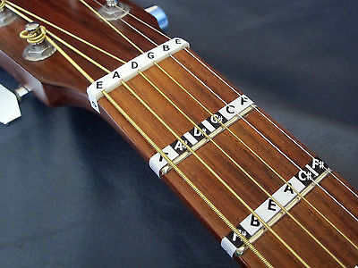 £5.95 • Buy Guitar FRETBOARD MUSIC NOTE STICKERS Fret Map Label Decals + Online Lesson Guide