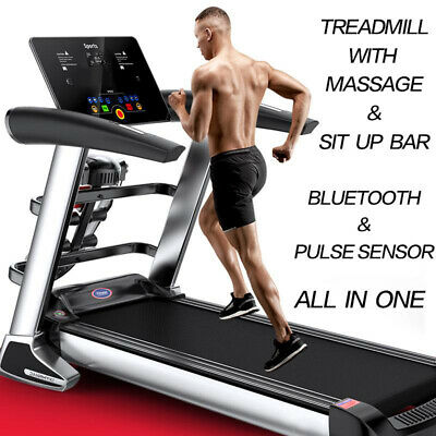 AU669.99 • Buy Multi-functional Electric Treadmill Pluse Senser Fitness Home Gym Massage Sit Up