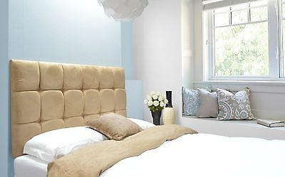 Java Buttoned Headboard Faux Suede All Sizes & 8 Colours & 4 Heights Best Price • 44.10£