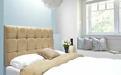 £44.10 • Buy Java Buttoned Headboard Faux Suede All Sizes & 8 Colours & 4 Heights Best Price