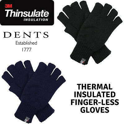 AU22 • Buy DENTS 3M THINSULATE Polar Fleece Fingerless Gloves Warm Knitted Insulation