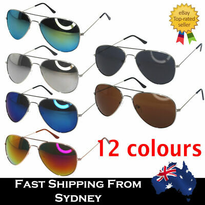 AU5.99 • Buy HOT Aviator Retro Vintage Colorful Mirror Lens Sunglasses Style Reflective