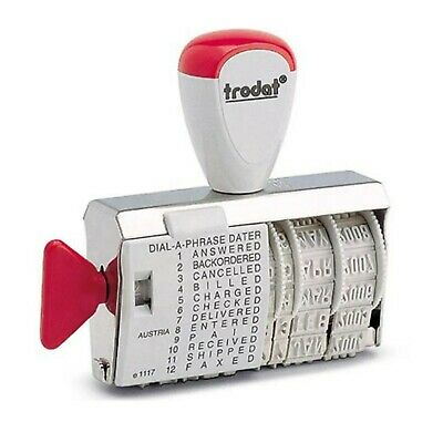 £9.95 • Buy Date Stamp Rubber Paid Received Dial A Phrase Multi Word Trodat 1117 2021