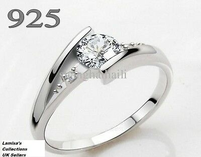Diamond Ring 925 Silver Size I To U Comes With Gift Pouch • 5.99£