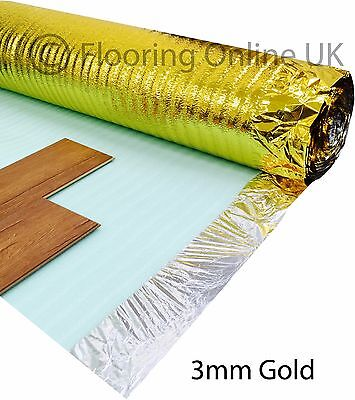15m2 Deal - 3mm Comfort Gold - Acoustic Underlay For Wood & Laminate - Sonic • 19.50£
