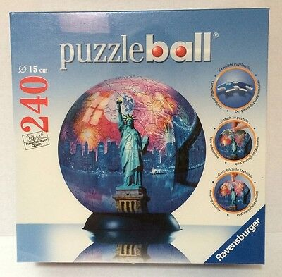 Ravensburger New York City Statue Of Liberty 3-D Jigsaw Puzzle Ball 240 Pieces • 34.95$