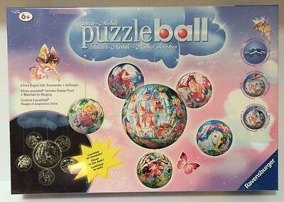 $79.99 • Buy Ravensburger Puzzle Ball Fairies Mobile Glow In The Dark 6 Fairy Balls NEW HTF
