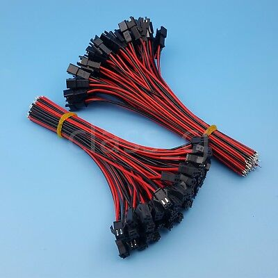 AU11.87 • Buy 50Pairs JST SM 2Pin 15cm Male And Female 24AWG Pitch 2.54mm Wire Connector