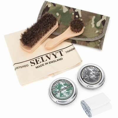 £21.95 • Buy Deluxe Shoe Shine Polishing Kit Army Boot Cleaning Cloth Brushes Polish Pouch