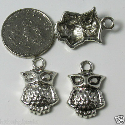 10 Or 20 Tibetan Silver Small Owl, Charms Pendants,Jewellery Making Wholesale UK • 4.99£