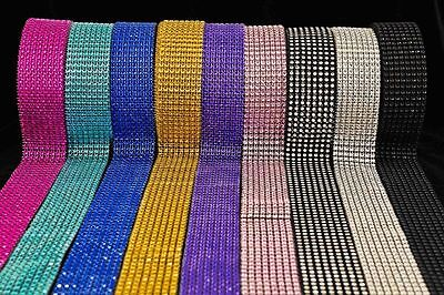 BLING RIBBON SPARKLY Sugarcraft Cake Decorating Card Craft Mesh Silver Diamante • 0.99£