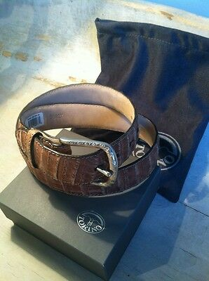 $295 • Buy Tan Buffed South Caiman Belt, Size 34, 36, 38, 40 Retails For $395