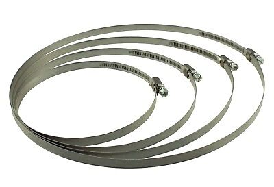 2-pack Fuel Hose Clips, Jubilee Type 8mm - 240mm, Irrigation Pipe, Hydroponics • 4.59£