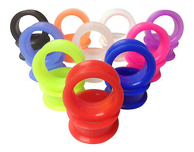 $3.85 • Buy PAIR Soft Silicone Ear Tunnels Plugs - Choose From 10 Colors Up To Size 50mm!