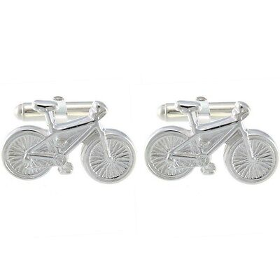 £69.99 • Buy Sterling Silver Bicycle Bike Cufflinks - Mens Cycling Gift