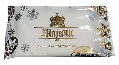 Lemon Fresh Wet Hand Wipes Towels Hot Cold Individually Wrapped Restaurant • 8.50£