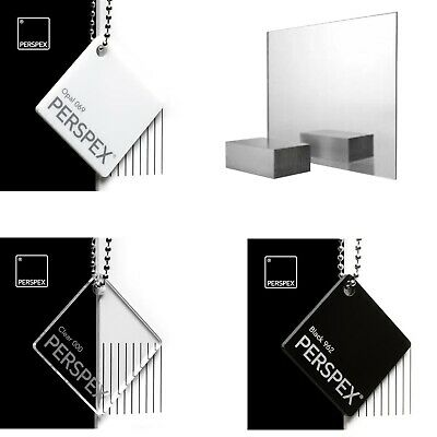 Acrylic Perspex® Mirror, Black, White & Clear Sheets / 2mm, 3mm & 5mm Thickness • 6.50£