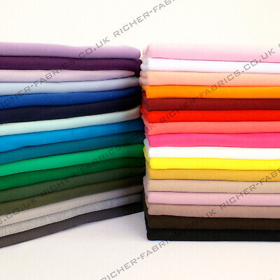 £5.90 • Buy 100% Knitted Jersey Cotton Stretch Interlock Fabric Material Made In UK FREE P&P