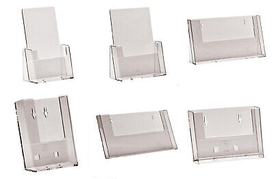 £7.26 • Buy LEAFLET HOLDER A4, A5, A6, 1/3rd A4 DL COUNTER STAND WITH OR WITHOUT CARD HOLDER
