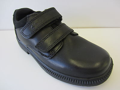 Boys Clarks Black Rip Tape Shoes   Deaton   UK (8 - 12½) (F & G Fitting) Infants • 25£