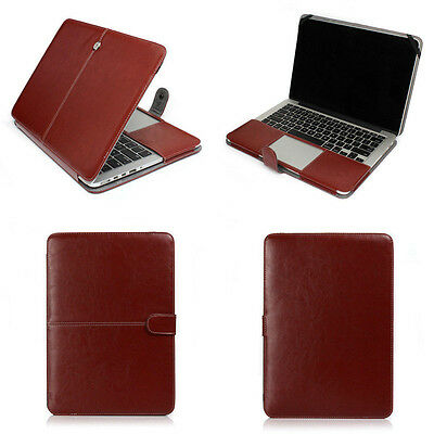 $15.99 • Buy Brown Leather Laptop Back Cover Case  For Macbook Pro Air 11  12  13  15  16  M1