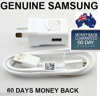 AU15.31 • Buy Genuine Samsung Galaxy S4 S5 Wall Charger 2A + USB Cable S2 S3 I9300 Note 2/3