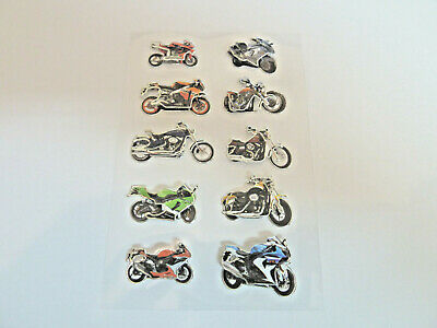 3D Motorbike Stickers For Kids, Children. For Party Bags, Craft, Decoration HM01 • 2.50£