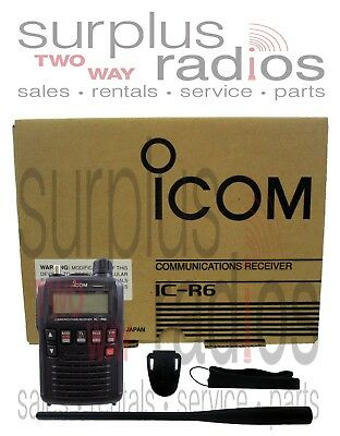 Icom IC R6 Handheld Portable Receiver Police Fire EMS Scanner 0.1-1309.995MHz • 178.46£