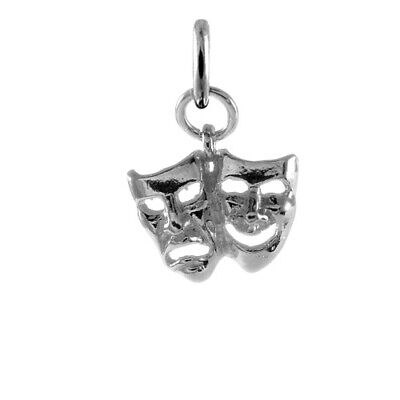 £9.05 • Buy TheCharmWorks 925 Sterling Silver Theatre Comedy & Tragedy Masks Charm