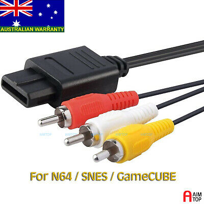 AU4.90 • Buy Audio & Video Cable AV RCA Cord For Nintendo N64 / SNES / GameCube - 1.8M Eters