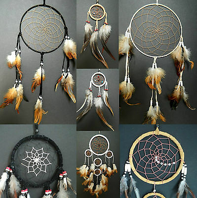 Traditional Dream Catcher Native American Indian Style APACHE Dreamcatcher UK • 9.99£