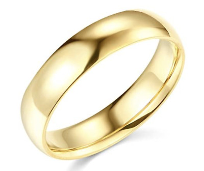 $398.68 • Buy Solid Real 14K Yellow Gold Wedding Anniversary Band Ring Comfort Fit Mens Womens