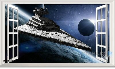 Star Wars Spaceship Galaxy 3D Window Wall Decals Kids Stickers Art Mural Decor • 12.35£